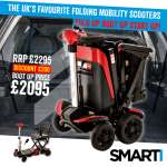 Smarti Folding Mobility Scooter | Mobility Scooters Specialists | Motability Scheme | Motability Scooters Dealership | Monarch Mobility 0800 002 9633