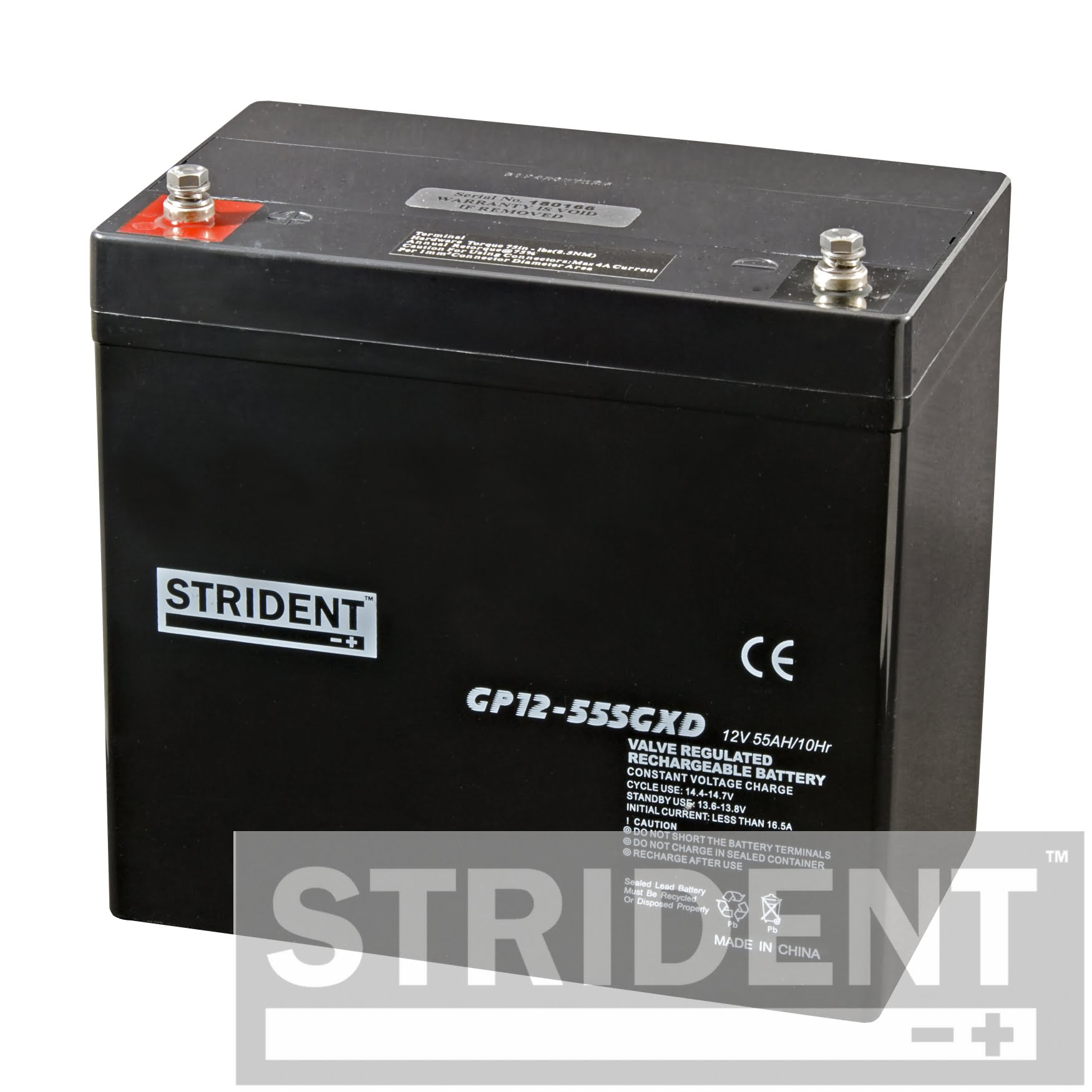 Strident™ GP12-55 Mobility Scooter Battery