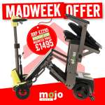 Mojo Auto Folding Mobility Scooter | Mobility Scooters Specialists | Motability Scheme | Motability Scooters Dealership | Monarch Mobility 0800 002 9633
