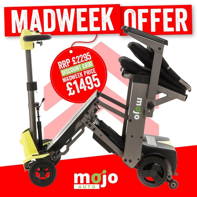 Mojo Auto Folding Mobility Scooter | Monarch Mobility 0808 102 2218