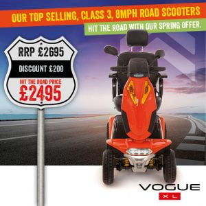 Vogue XL Mobility Scooter | Mobility Scooter Specialists | Motability Scheme | Monarch Mobility 0800 002 9633