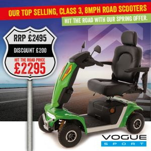 Vogue Sport Mobility Scooter | Mobility Scooter Specialists | Motability Scheme | Monarch Mobility 0800 002 9633