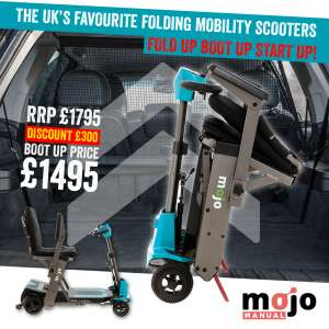 Mojo Manual Folding Mobility Scooter | Mobility Scooter Specialists | Motability Scheme | Monarch Mobility 0808 102 2218